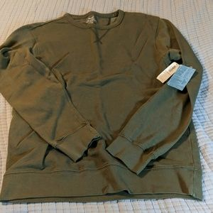 Army Green Crew Neck Sweatshirt